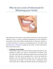Why do you need a Professional for Whitening your Teeth.docx