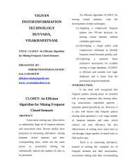 07. Closet - An Efficient Algorithm for Mining Frequent.doc