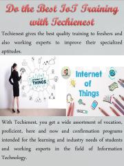 Do the Best IoT Training with Techienest.pdf