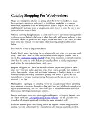 Catalog Shopping For Woodworkers.docx