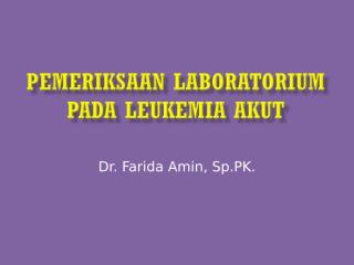 leukemia akut 2011.ppt